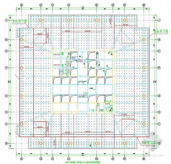[广东]办公楼工程高支模施工方案(计算书、平面图)