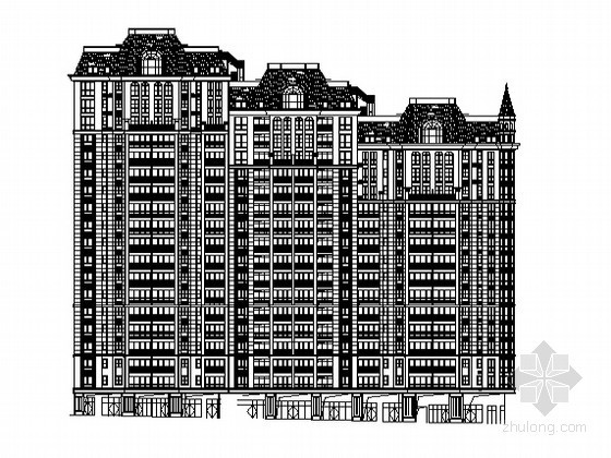 [湖南]某欧式小区十八层住宅楼建筑施工图(1号楼)