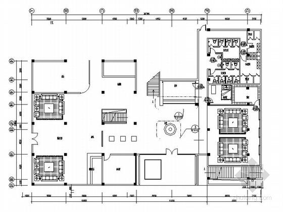 [广西]中国奇石之乡高档奢华洗浴会所室内装修施工图(含效果及实景)