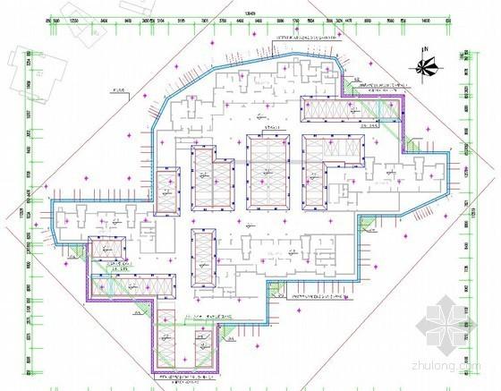 [学士]SMW工法桩加内支撑结合复合土钉墙深基坑支护设计