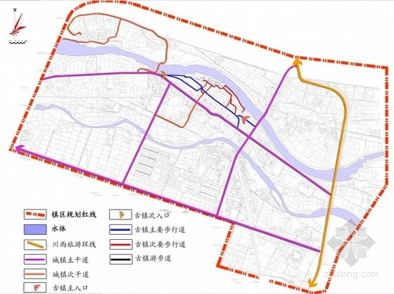 [四川]禅茶古镇景观规划方案设计-交通分析图