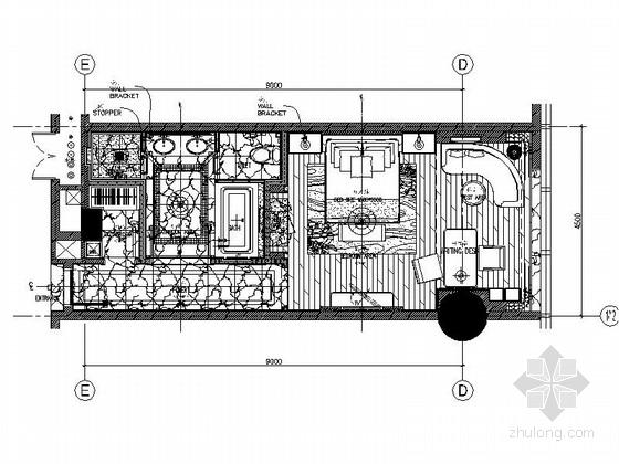 [成都]现代豪华酒店标准单人间室内装修图