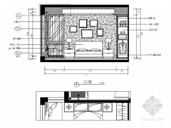 [福州]现代风格130平三居室装修图(含效果)小孩房立面图
