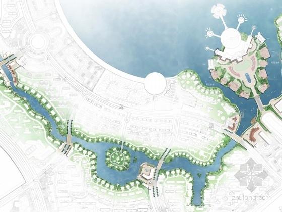 [大庆]北国之春梦幻城概念景观设计之一水系概念设计