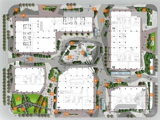 [上海]现代多元化商务区景观规划设计方案