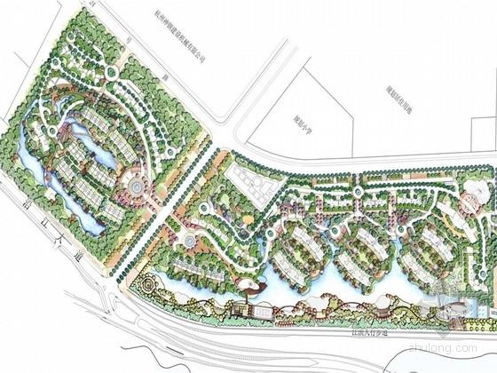[杭州]城市住宅区绿化带景观设计方案