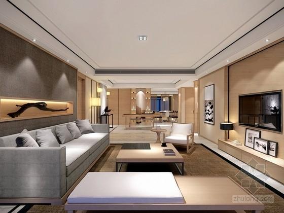 [北京]现代简约风格两居室样板间室内设计效果图