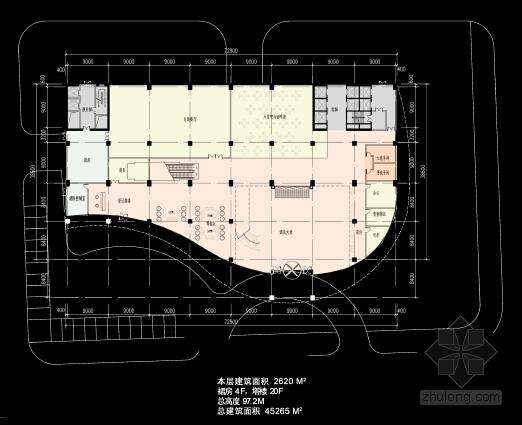 现代风格城市商业综合体设计方案平面图