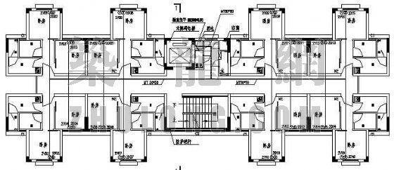 广州某大学单身公寓综合布线图纸