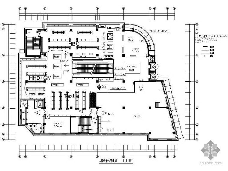 某两层五星级酒店平面施工图