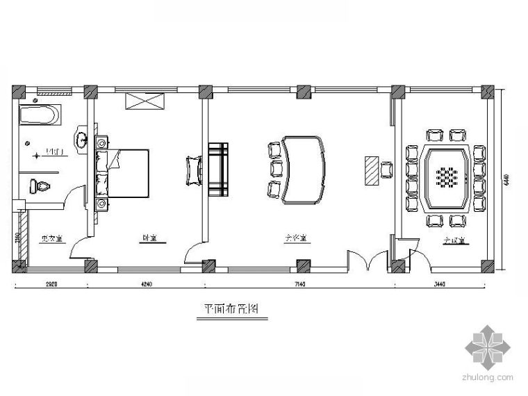 [成都]某污水处理厂办公室装修改造图