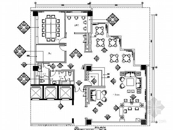 [江苏]某五星级酒店行政酒廊室内装修施工图