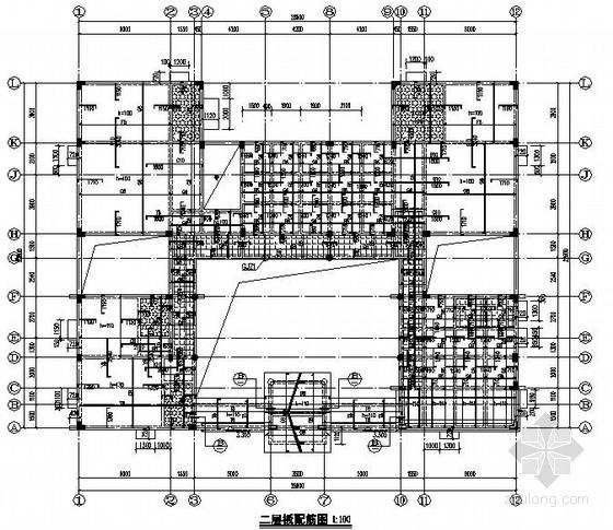 三层框架结构四合院结构施工图