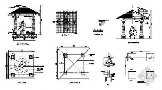 四角亭做法详图-4