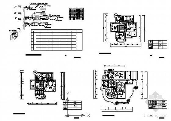 上海某别墅中央空调设计图