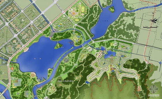 浙江某风景区景观规划设计总平面