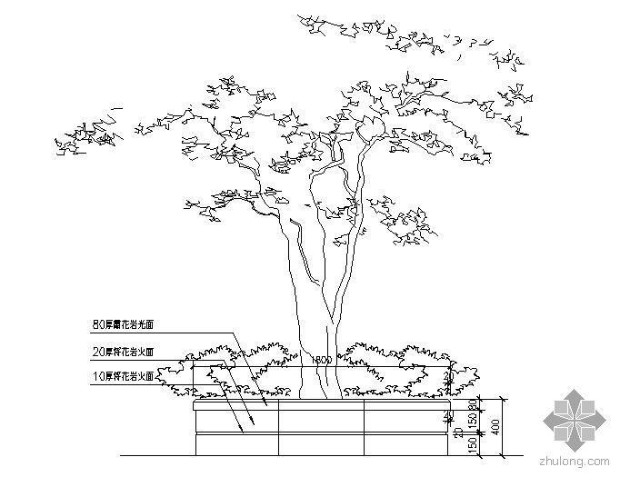 矩形树池施工大样图