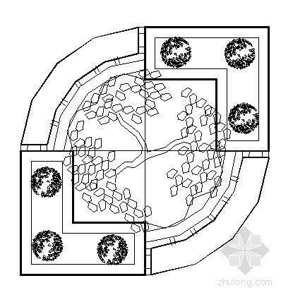 四种花坛景观设计施工图