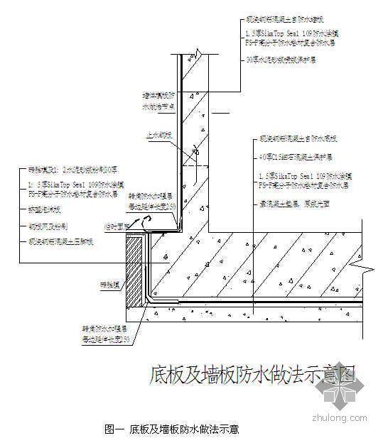 苏州某工程地下室底板、侧墙防水施工方案(高分子复合防水卷材)