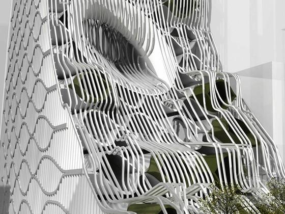 2019建筑竞赛资料下载-Metropolitan Veil-eVolo摩天大楼建筑竞赛2009年