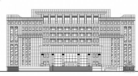 [兰州市]某七层石材干挂玻璃幕墙法院建筑结构施工图