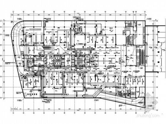 [上海]综合楼建筑空调通风设计施工图纸(知名院设计)