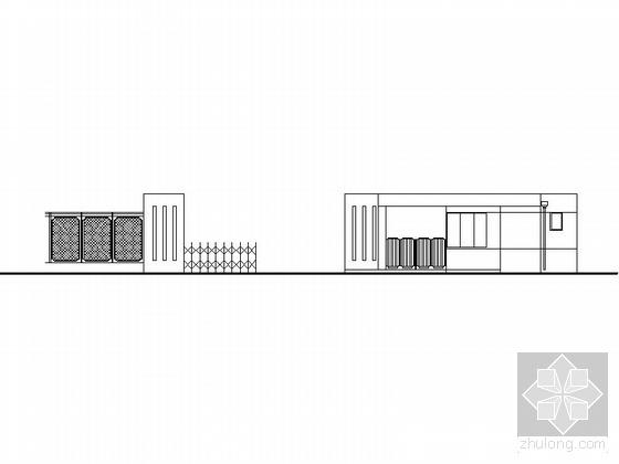 某厂区传达室、大门建筑施工图