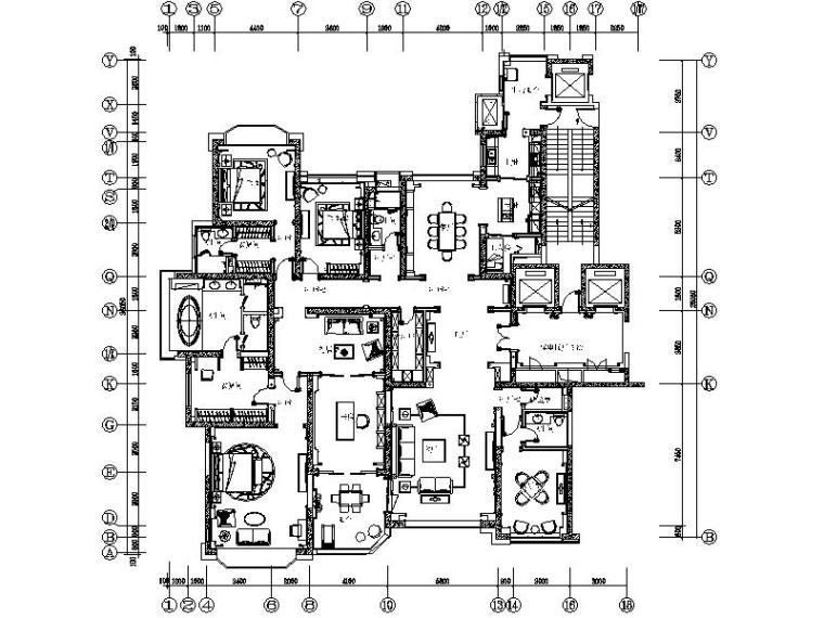 [太原]楼盘顶级豪华样板间室内设计施工图(含方案、效果图)