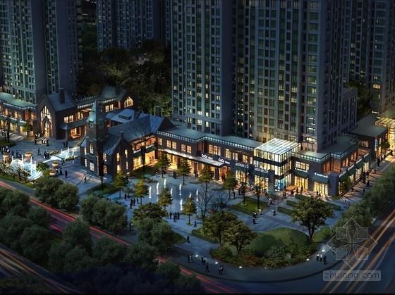[北京]深棕水泥瓦叠排别墅外观材料设计方案文本