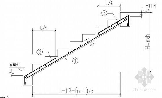 框架别墅混凝土楼梯节点构造详图