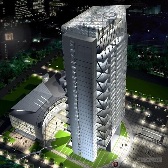 [安徽]28层玻璃幕墙办公楼建筑设计方案文本(含cad ppt)