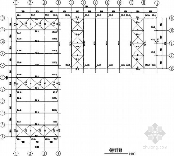 L型门式刚架厂房建筑结构图及拆图详图