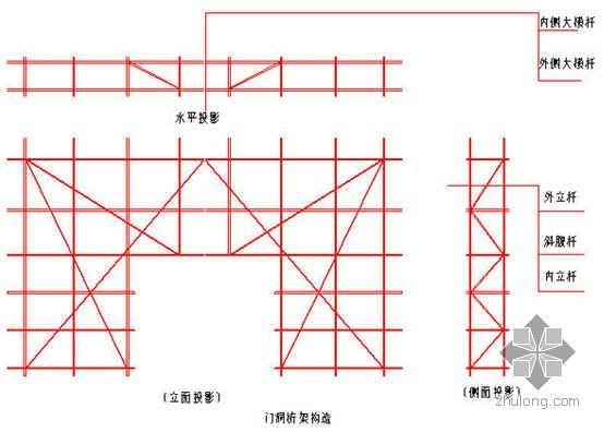 某砖混结构住宅18米高单排钢管落地脚手架施工方案