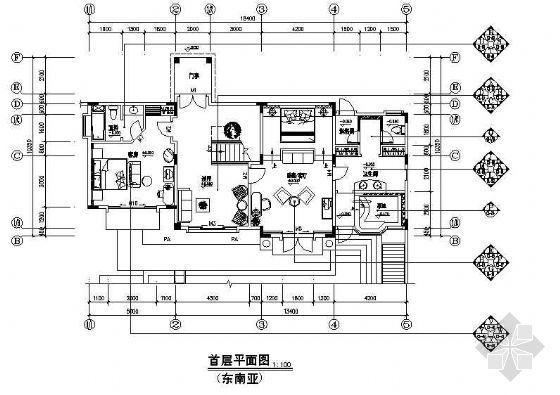 C1型别墅装修(东南亚)