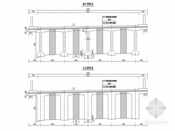 35m装配式预应力T梁桥上部构造通用图(70张)