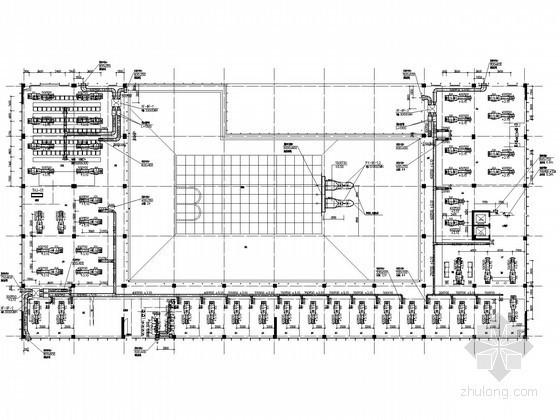 [广东]高层商业综合楼空调通风及防排烟施工图(含人防设计)