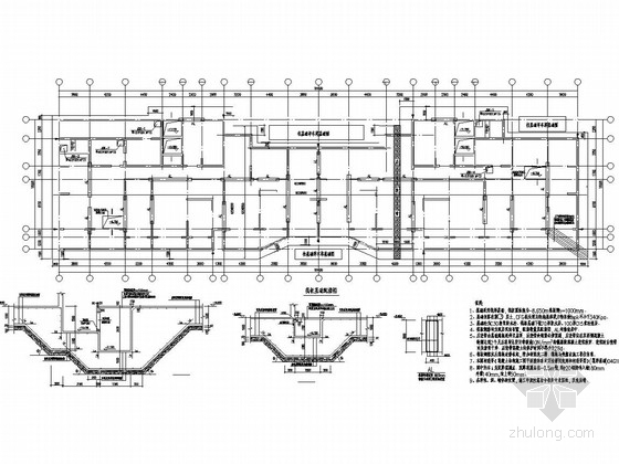 [湖北]框剪结构体系国际金融城结构图(后注浆钻孔灌注桩)