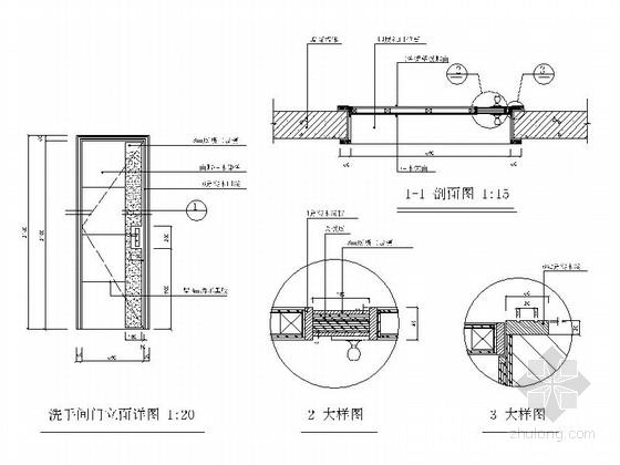 [广州]三室两厅简欧风格室内装修图 节点
