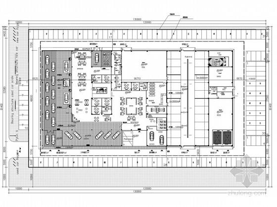 两层汽车4S店楼钢结构施工图(含建施)