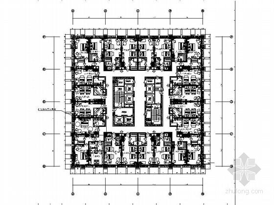 [江苏]连锁五星大饭店客房室内装修CAD施工图(含效果)