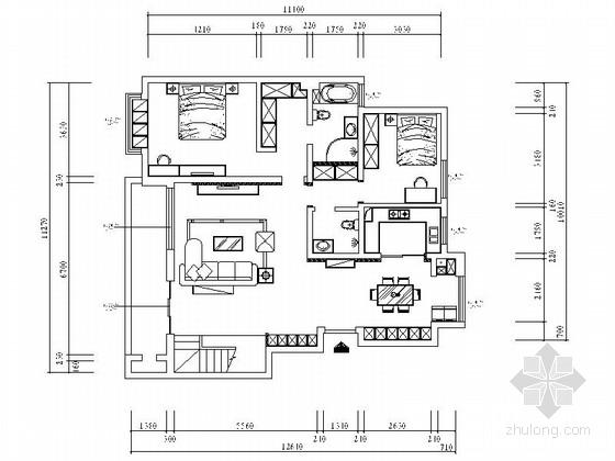 [宁夏]高档居住区现代简约复式装修施工图(含效果及模型)