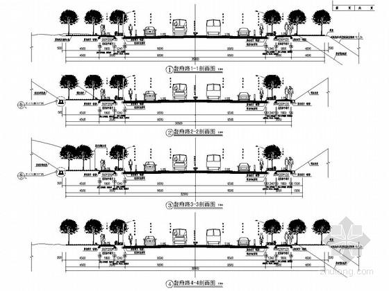 城市道路景观提质改造设计施工图(32张)