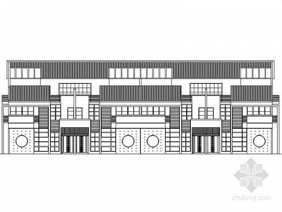 [深圳]某三层四联排徽式别墅(A型)建筑方案图