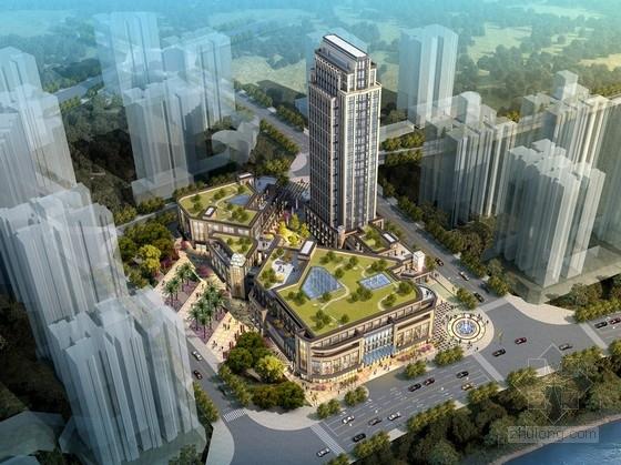 [重庆]新古典风格滨水区商业综合体设计方案文本(内含详细CAD图纸)