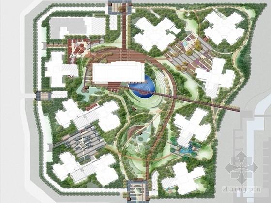 [成都]小清新住宅区景观规划设计方案