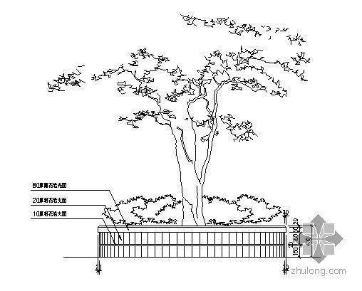 圆形树池施工大样图