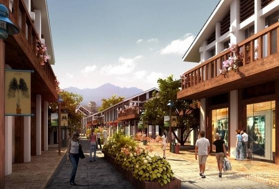 [湖南]风情古街景观规划设计方案-效果图