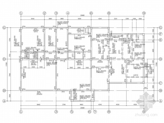 3层欧式别墅洋房结构施工图