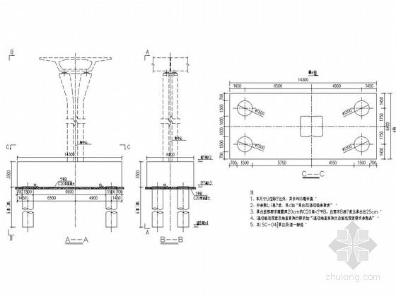 城市轨道高架桥工程下部结构施工图(103张 桩基 承台)