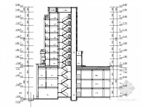古典风格住宅区规划设计剖面图
